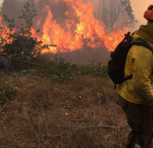 Balance de Conaf informa que hay 27 incendios forestales activos