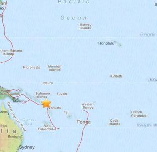 Sismo de gran intensidad de registra en la cuenca del océano Pacífico