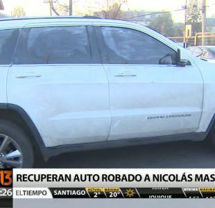 Policía recupera automóvil robado a Nicolás Massú