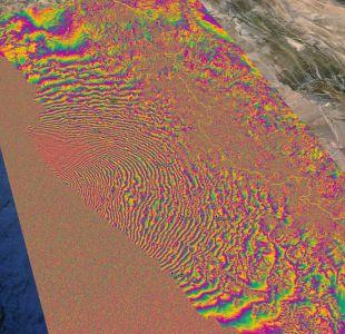 Desplazamiento de la superficie tras el terremoto 8,4 en Chile