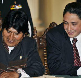 Héctor Arce y Evo Morales