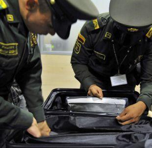 Incautan más de 500 kilos de cocaína a buses de hinchas colombianos que se dirigían a Chile