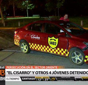 El Cisarro es detenido por 13° vez tras persecución en Las Condes