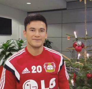 [VIDEO] Charles Aránguiz brinda sus buenos deseos de Navidad desde Alemania