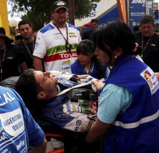 [FOTOS] Así fue trasladado el piloto chileno Ignacio Casale tras su accidente en el Dakar