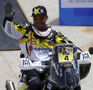 """Emocionado Pablo Quintanilla en el podio del Dakar: """"Esto va para todos los chilenos"""""""