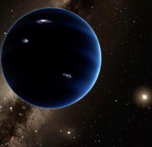 Ilustración del supuesto planeta gigante que podría existir en el Sistema Solar.