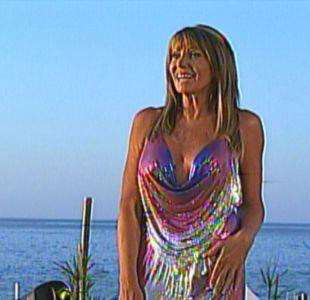 Raquel Argandoña y su vestido metálico