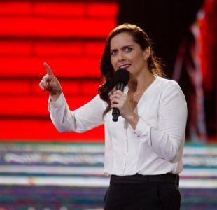 Natalia Valdebenito en acción en Viña 2016