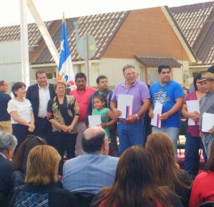 Presidenta Bachelet entrega escrituras de viviendas definitivas a 63 familias damnificadas por 27-F