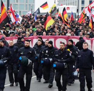 Berlín: ultraderechistas marcharon en contra de Merkel y refugiados