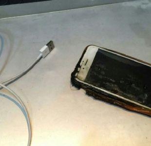 Investigan incendio de un smartphone en pleno vuelo