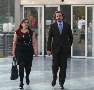 El fiscal Pablo Gómez junto a la fiscal Carmen Gloria Segura