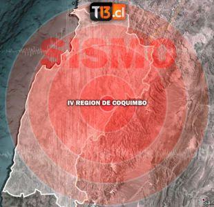 Sismo de menor intensidad se registra en las regiones de Atacama y Coquimbo