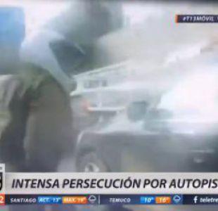 [VIDEO] Carabinero registra con GoPro una intensa persecución por autopista