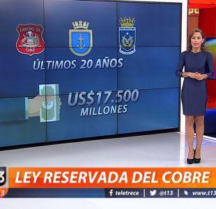 US$17.500 millones en 20 años: así opera la cuestionada ley Reservada del Cobre
