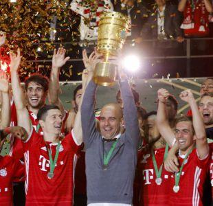 [FOTOS] La celebración de Vidal y la emoción de Guardiola tras el nuevo título de Bayern Münich