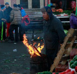 [FOTOS] Ola de frío: Temperaturas bajo cero en zona centro del país