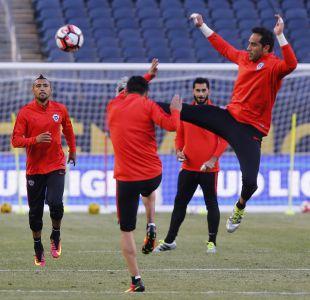 [FOTOS] La práctica de La Roja previa al partido frente a Colombia
