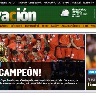 Así informó la prensa extranjera el título de la Roja en la Copa América Centenario