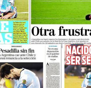 [FOTOS] La tristeza y el adiós de Messi en las portadas de la prensa de Argentina