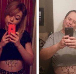 Papá realiza divertido trolleo a su hija recreando sus selfies
