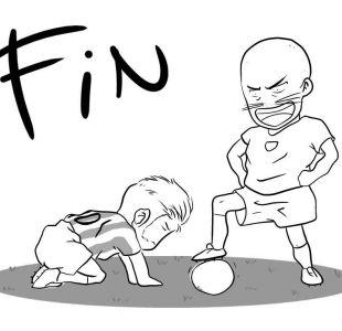 Artista de Concepción recrea en estilo manga el penal de Gato Silva en la final de la Copa América