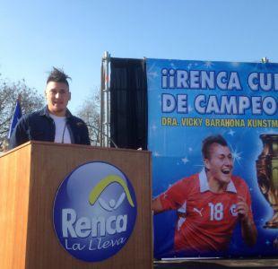 [FOTOS] Nicolás Castillo fue nombrado Hijo Ilustre de Renca tras ser campeón de la Copa Centenario