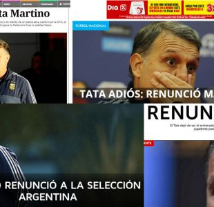 [FOTOS] Así reaccionó la prensa de Argentina tras la renuncia de Gerardo Martino