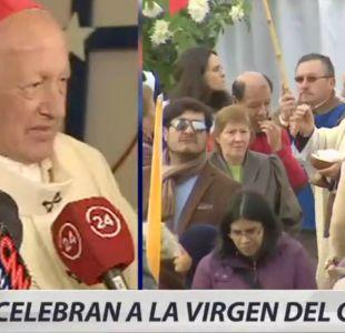 [VIDEO] Cardenal Ezzati encabezó celebración por la Virgen del Carmen en Maipú