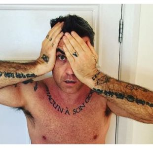 Robbie Williams vuelve a mostrarse al natural