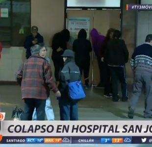 Un colapso se produce en el servicio de urgencias del Hospital San José