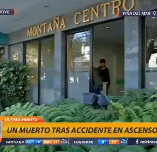 Accidente en ascensor deja un muerto en Viña del Mar