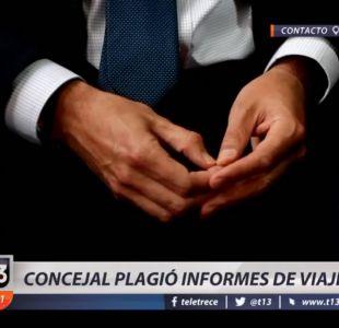 [VIDEO] Concejal Gabriel Altina plagió informe de viajes