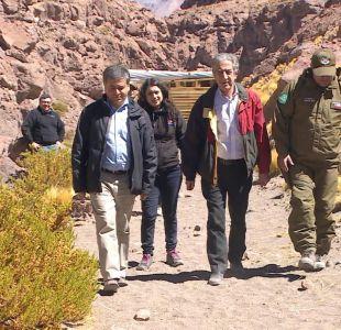 Parlamentarios chilenos visitaron las aguas del río Silala