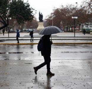 Chubascos anunciados para este lunes dejarán bajas temperaturas desde Coquimbo hacia el sur