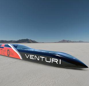 Venturi VBB-3, el vehículo eléctrico más rápido del mundo alcanzó record de 576 km/h