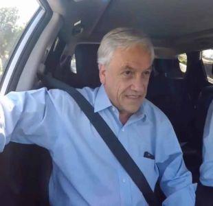 Piñera sorprende cantando karaoke en autos conducidos por candidatos de Chile Vamos