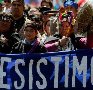Con incidentes terminó la marcha por la reivindicación mapuche