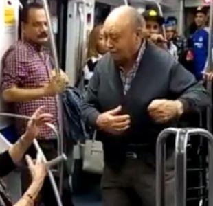 Pareja de ancianos bailan hip hop en el metro y el momento se vuelve viral