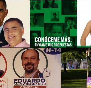 Semidesnudos y dibujos animados: cómo candidatos municipales extreman recursos en su propaganda