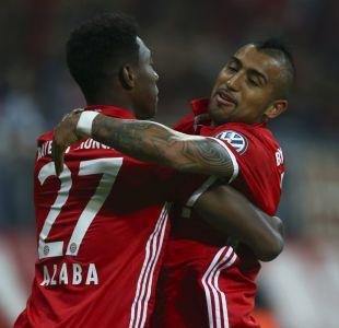 Vidal vio acción en clasificación del Bayern en Copa de Alemania