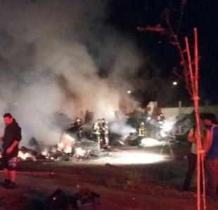 Se registra incendio en campamento cercano a la ex Penitenciaría de Santiago