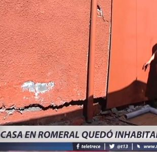 [VIDEO] Sismo de 6.4 grados destruye casa en Romeral