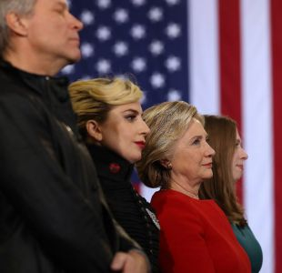 Bon Jovi y Lady Gaga apoyan a Hillary Clinton