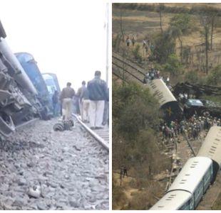 [FOTOS] Las impactantes imágenes del tren descarrilado en India