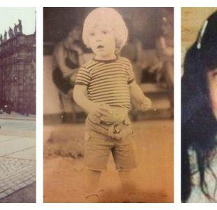 Amaya Forch, Martín Cárcamo y Monserrat Bustamante cuando eran niños