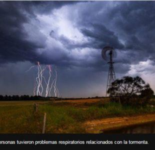 Más de 1.800 personas tuvieron problemas respiratorios relacionados con la tormenta.