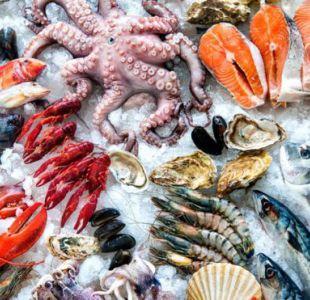 Los pescados y los mariscos tienen diferentes cantidades de mercurio.