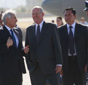 El presidente de Perú inició visita a Chile